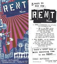 RENT former Broadway production ad/flyer Nederlander Theatre NYC now closed