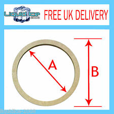 """PAIR OF 4"""" 10CM 9MM ROUND OVAL MDF MOUNTING STEREO SPEAKER SPACER ADAPTOR RING"""