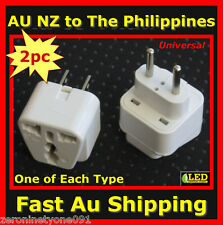 AU NZ Universal to PHILIPPINES Premium Travel Plug  Adaptor Converter Both Types