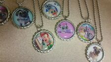 Puppy dog pals Bottle Cap Necklaces great party favors lot of 10 really cute