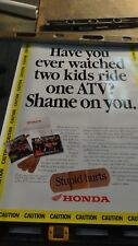 Honda ATV Kids Ride Smart Original  2' X 4' poster  #46
