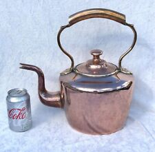 More details for very large victorian copper & brass kettle no.6