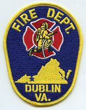 DUBLIN VIRGINIA VA FIRE PATCH