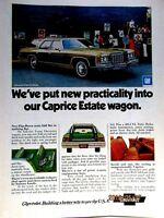 "1974 Chevrolet Caprice Estate Wagon Original Print Ad 8.5 x 11"""