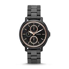 FOSSIL CHELSEY  ES3451  BLACK FACE ROSE GOLD ACCENT FOSSIL CHELSEY ES 3451