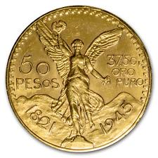 1945 Mexico Gold 50 Pesos AU - SKU #26430