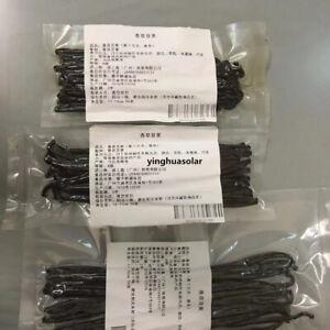 """50g Vanilla Pod Beans Bourbon Grade A Prime Top Madagascar Vanilla Bean 6"""" 7""""+香草"""