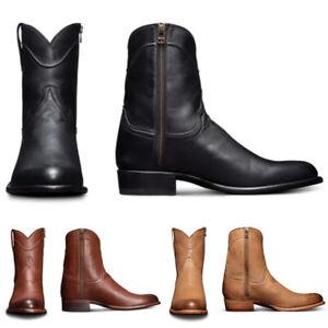 Zero Hassle Classic Vintage Black Calfskin Leather Short Zip Boot Am Men Size 11 All Style