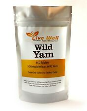 Live Well Wild Yam Extract 500mg Supplement for Menopause and Cramps 150 Tablets