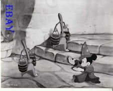 Fantasia Mickey Mouse leads the brooms R.I. Vintage Photo