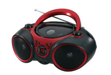 Stereo Sport CD Player AM/FM Radio Boom Box  Jensen Stereo aux Line-In Red