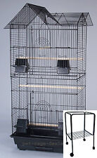 """63"""" New Large Tall Cockatiel Parakeet Finch Canary Bird Cage With Stand - 368"""