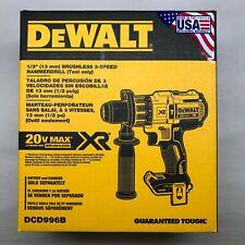 Dewalt DCD996B 1/2 Brushless 3 Velocidades Taladro Martillo En Caja (herramienta desnudo) NUEVO