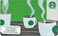 Starbucks Gift Card 2012 Vintage Coffee Cups Green Collectible PIN Intact