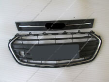 2x Chrome Crossband Front Bumper Upper&Middle k Grille For Chevrolet Trax 17-18
