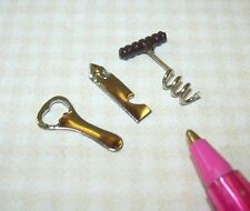 Miniature Set of 3 Can & Bottle Openers, DOLLHOUSE Miniatures 1/6 (Barbie Scale)
