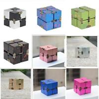 Metal Infinity Cube Dice EDC Fidget Hand Fingertips Toy Fidget Anti Anxiety
