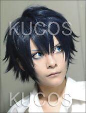 Ao No Blue Exorcist Rin Okumura Blue Short Anime Cosplay party Perücke+wig cap