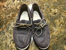 Cole Haan purple men's boat shoes with Air insoles LSU TCU size 10