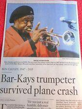 1947-2015 BEN CAULEY OBITUARY BAR-KAYS TRUMPETER HOT BUTTERED SOUL