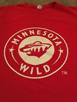 Minnesota Wild XL T Shirt Red NHL Hockey St. Paul Minneapolis