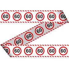 (€0,33/m) Absperrband Verkehrsschild Zahl 60 Geburtstag Deko Dekoration Feier