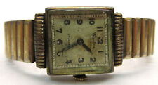 UNISEX VINTAGE CRESTON 10k GOLD FILLED WATCH W/ GOLD PLATED BAND - PARTS **