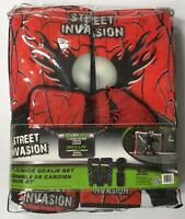 "New Street Invasion junior street 21"" pads/gloves set hockey goalie equipment"
