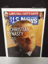 US News & World Report Front Cover Only - Signed by Billy Graham