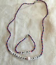 MINNESOTA TWINS bracelet and necklace set-NEW