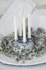 Kerzenleuchter Adventskranz Adventsleuchter Weihnachten Shabby Chic Landhaus
