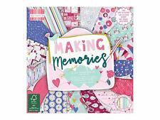 "6"" x 6"" 48 Sheet Full Pad MAKING MEMORIES Card Making Scrapbook Backing Paper"