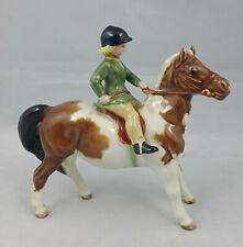 More details for beswick skewbald – girl on pony - model no. 1499 – restored