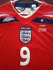 New Authentic Umbro 2008 England Rooney L/S Jersey vs France manchester United M