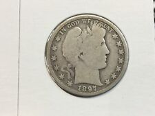 1897-O Barber Half. Dollar. In Very Good strong details