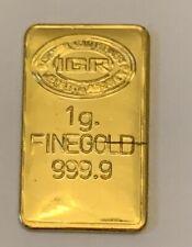 1 gram gold bar igr