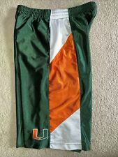 Miami Hurricanes Nike basketball Shorts Youth Xl, Will Fit Mens Small