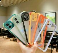 Luxury Bumper Transparent Phone Case Camera Protection Cover For iPhone 12 11 XS