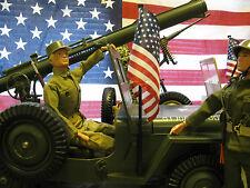 VINTAGE GI JOE FIVE STAR JEEP REPLACEMENT AMERICAN FLAG