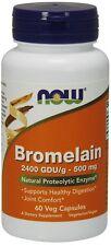 Now Foods BROMELAIN 2400 GDU/g 500 mg - 60 caps DIGESTIVE ENZYME Digest Protein