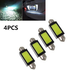 4Pcs 12V 4W 36mm Car COB LED License Plate Light Reading lights Trunk light Bulb