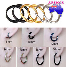 Wholesale 1Pair 316L Surgical Steel Titanium Anodized Hinged Sleeper HoopEarring