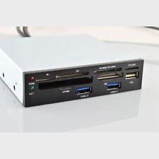 EINBAU PANEL MULTI FORMAT KARTENLESER CARDEADER INTERN + USB 3.0 + USB 2.0 HUB