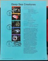 Scott # 3343a - US Souvenir Sheet of 5 - Deep Sea Creatures - MNH - 2000