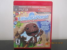 LittleBigPlanet  (Sony Playstation 3, 2008) *Tested/Complete/GOTY