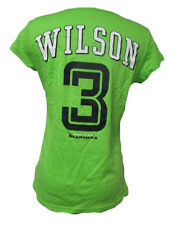 Seattle Seahawks Women M #3 Russell Wilson Player T Shirt Action Green NFL A14