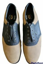 Dexter Mens  Size 12 Golf Spikes Brown Two Tone Lace Up Tide Water Shoes