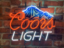 "New Coors Mountain Board Neon Light Sign 24""x20"" Real Glass Bar Beer"