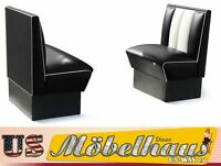 HW-70-S American Dinerbank Sitzbank Diner Bänke Möbel 50´s USA Style Gastronomie