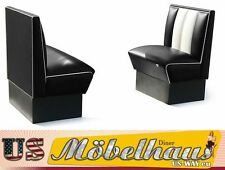 HW-70-S American Diner Bench Seating Furniture 50´S USA Style Catering